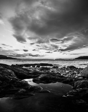 Brian Cattelle Fine Art Black and White Photography Sunset Study 02