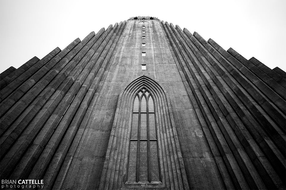 Brian Cattelle Fine Art Black and White Photography Icelandic Church Study 01