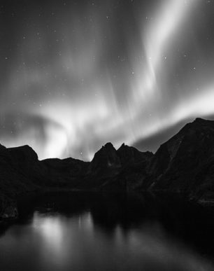 Brian Cattelle Fine Art Black and White Photography Northern Lights Study 01