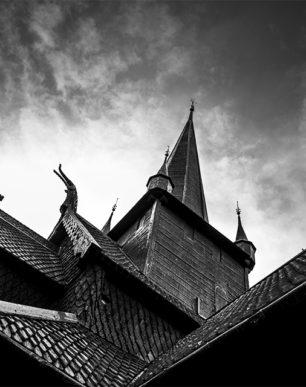 Brian Cattelle Fine Art Black and White Photography Norwegian Church Study 01