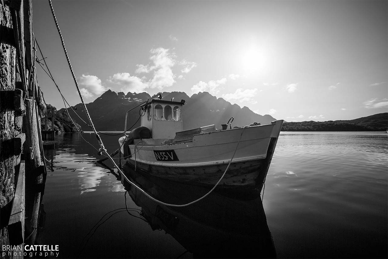 Brian Cattelle Fine Art Black and White Photography Odd's Boat Study 01