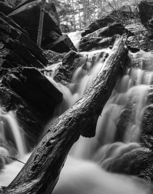 Brian Cattelle Fine Art Black and White Photography Purgatory Falls - Lower Falls Study 04