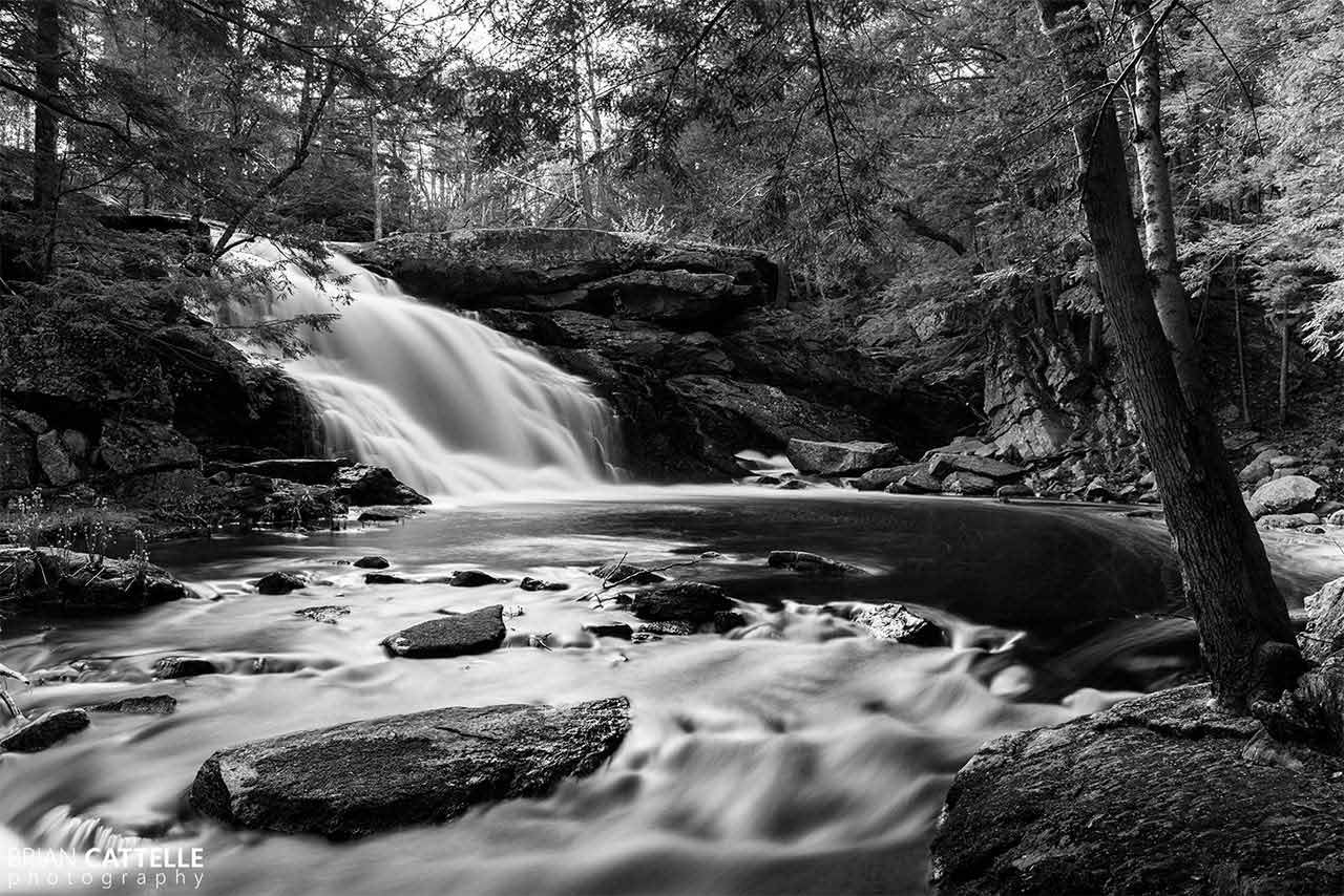 Brian Cattelle Fine Art Black and White Photography Purgatory Falls - Lower Falls Study 05