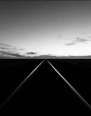 Brian Cattelle Fine Art Black and White Photography Railroad Tracks Study 09