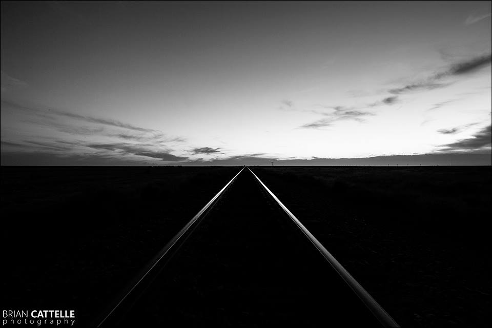 Brian Cattelle Fine Art Black and White Photography Rail Road Tracks Study 09