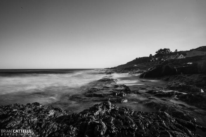 Black and White Landscape Photography Cape Elizabeth Coast