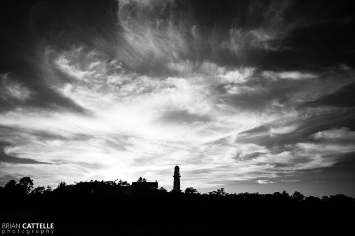 Black and White Landscape Photography Cape Elizabeth Lighthouse