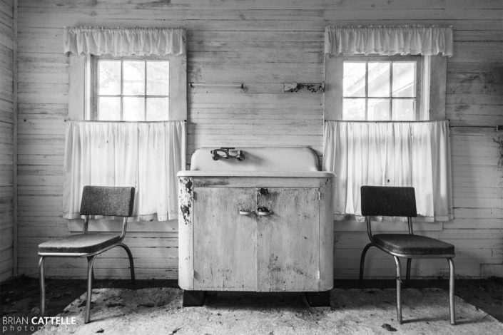 Black and White Photography Abandoned Kitchen