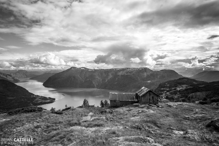 Fine Art Black and White Photography Fjord