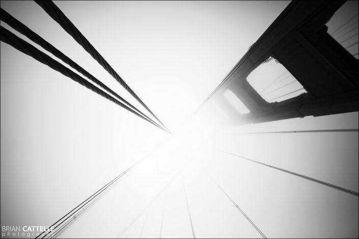 Fine Art Black and White Photography golden gate bridge
