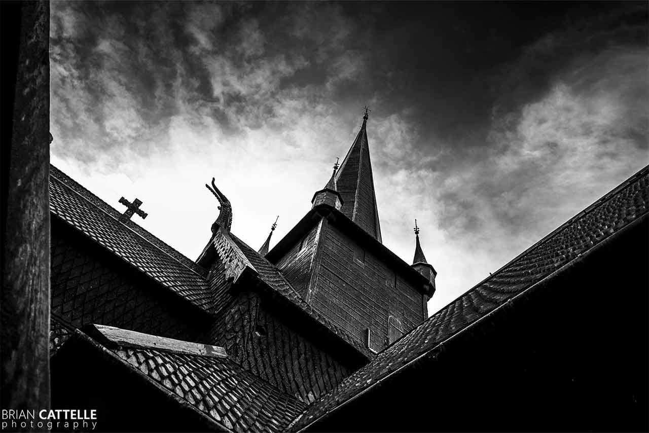 Fine Art Black and White Prints Viking Church