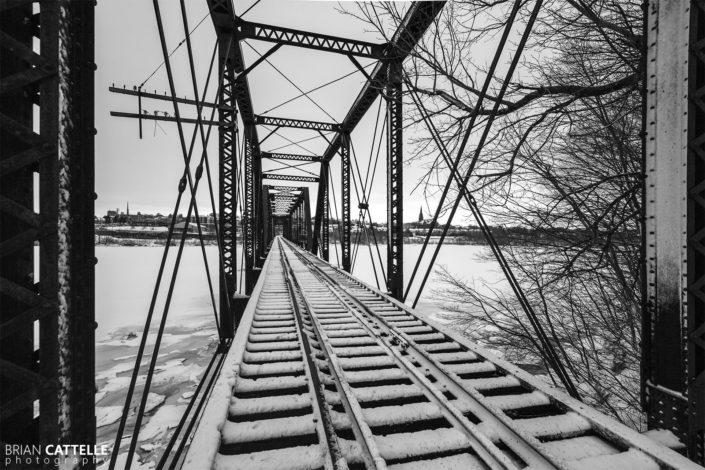 Photography Bangor Brewer Train Bridge