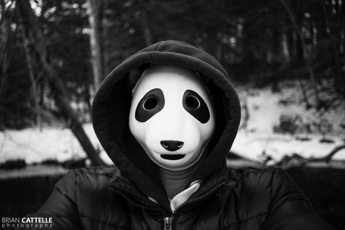 Portrait Photography Panda Face